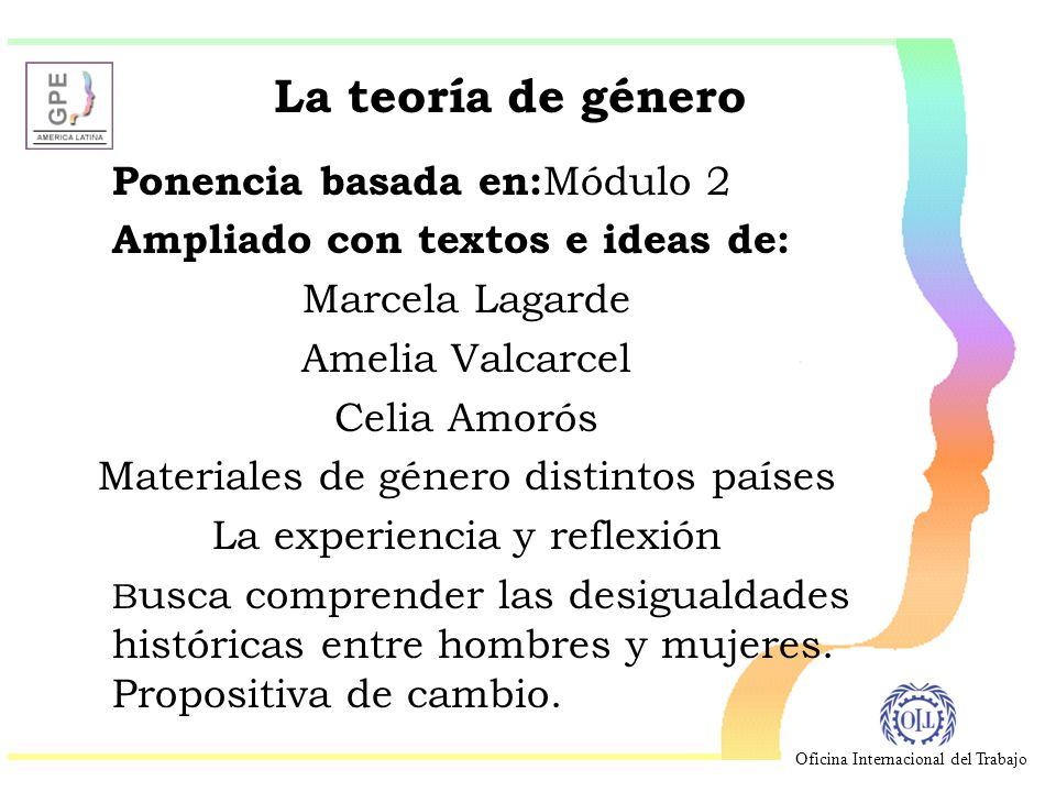 La teoría de género Ampliado con textos e ideas de: Marcela Lagarde