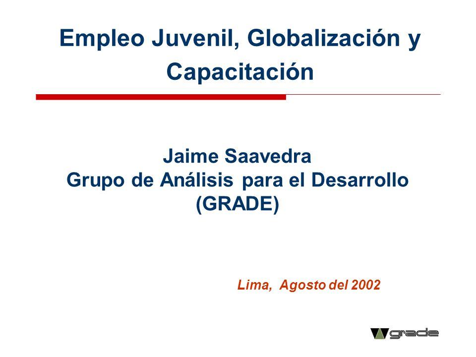 Empleo Juvenil, Globalización y Capacitación