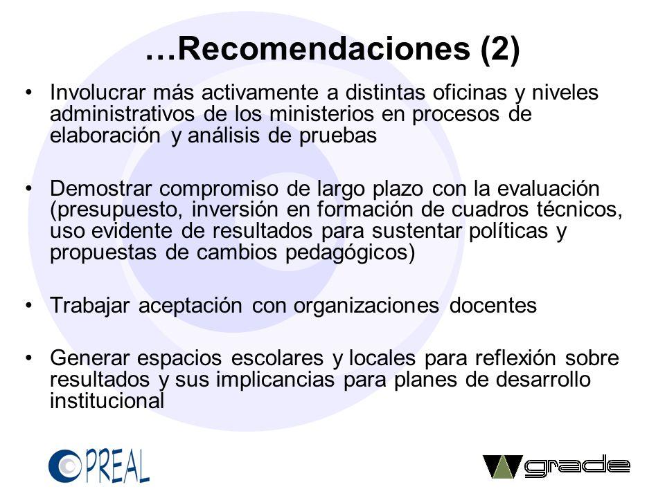 …Recomendaciones (2)