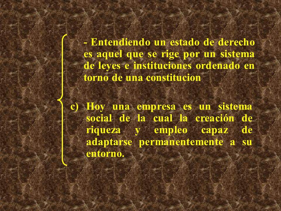 - Entendiendo un estado de derecho es aquel que se rige por un sistema de leyes e instituciones ordenado en torno de una constitucion