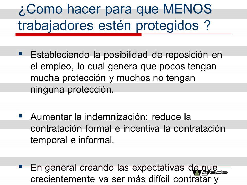 ¿Como hacer para que MENOS trabajadores estén protegidos