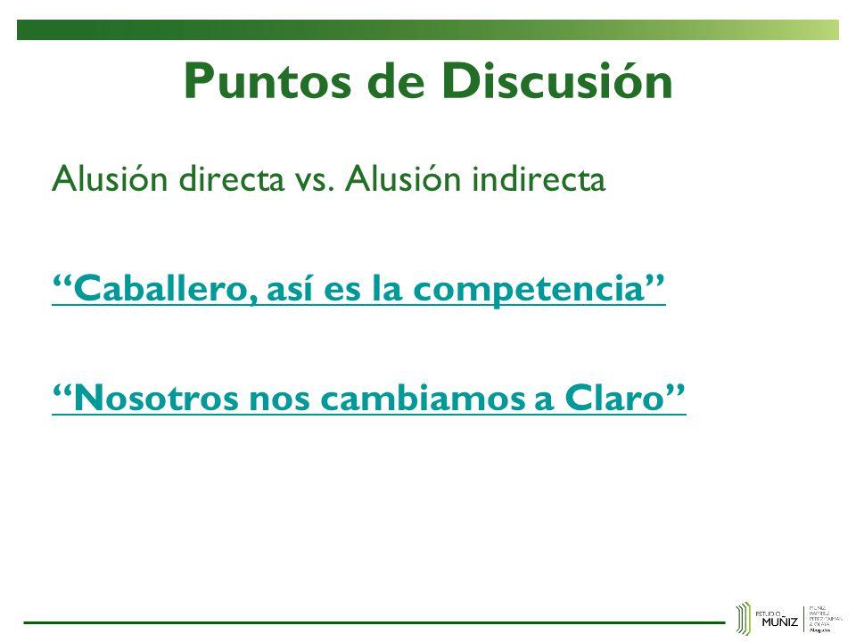 Puntos de Discusión Alusión directa vs.