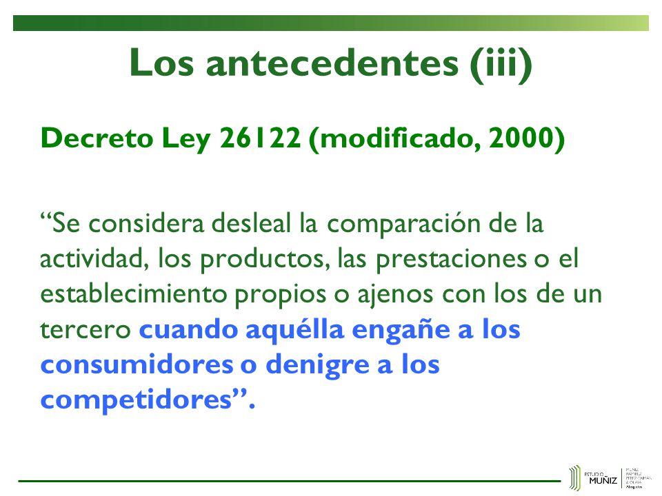 Los antecedentes (iii)