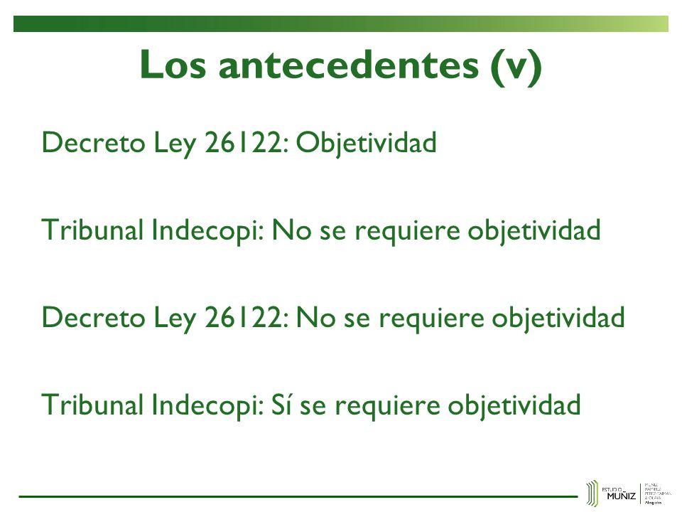 Los antecedentes (v)