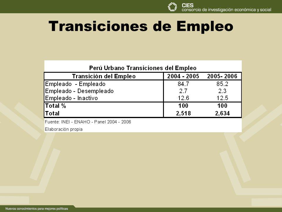 Transiciones de Empleo