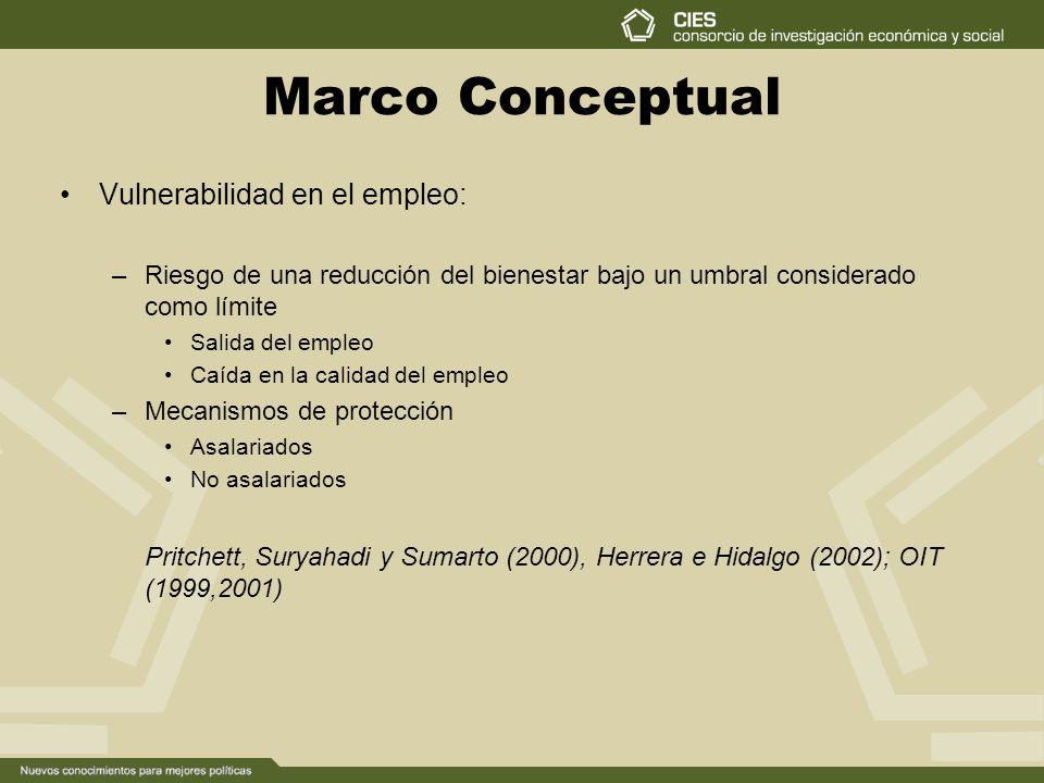 Marco Conceptual Vulnerabilidad en el empleo: