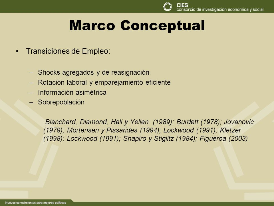 Marco Conceptual Transiciones de Empleo: