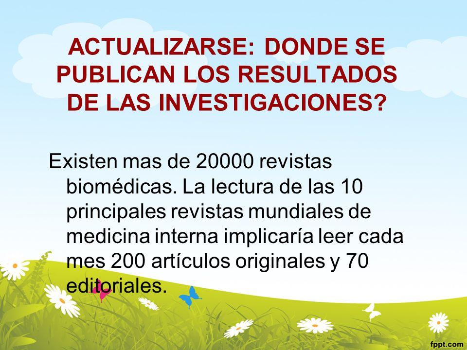 ACTUALIZARSE: DONDE SE PUBLICAN LOS RESULTADOS DE LAS INVESTIGACIONES