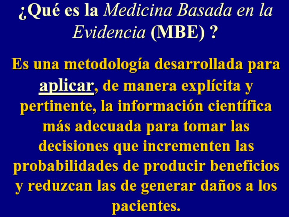 Sackett DL, Rosenberg WMC, Gray JAM, Haynes RB, Richardson WS: Evidence based medicine: what it is and what it isn't. BMJ 1996;312:71-2.