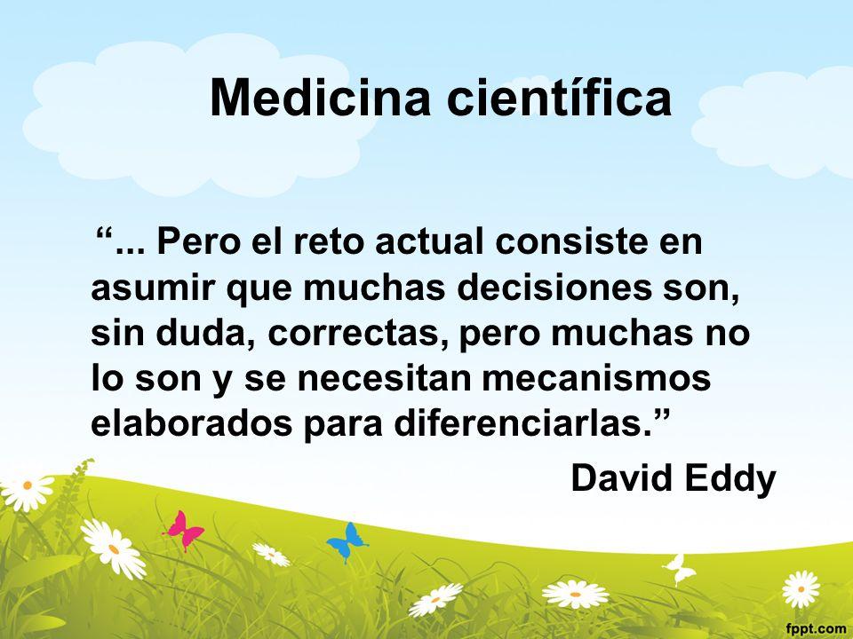 Medicina científica David Eddy