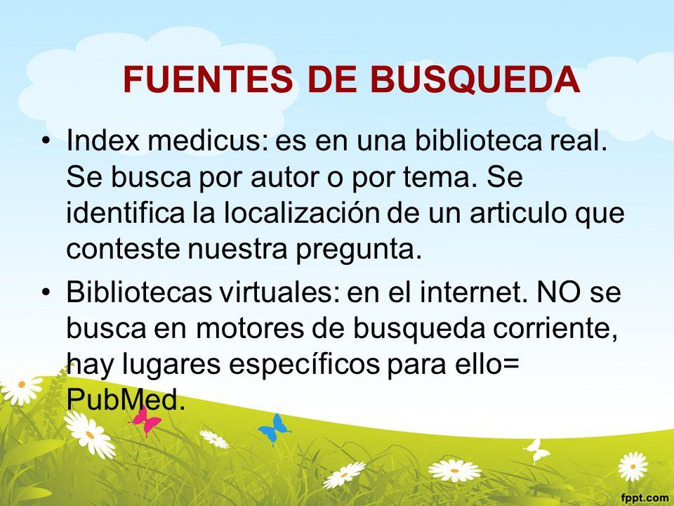 FUENTES DE BUSQUEDA