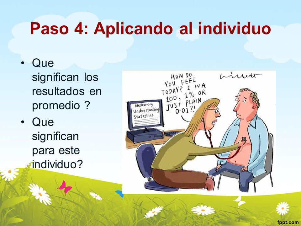 Paso 4: Aplicando al individuo