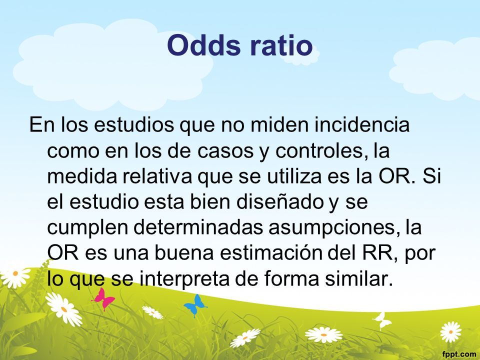 Odds ratio