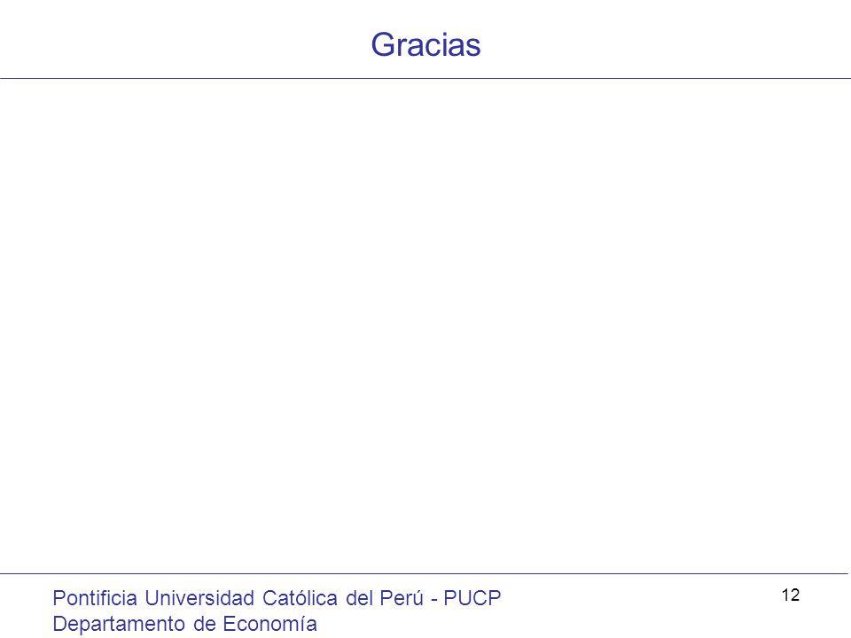 Gracias Pontificia Universidad Católica del Perú - PUCP