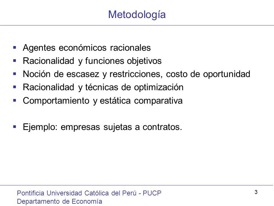Metodología Agentes económicos racionales