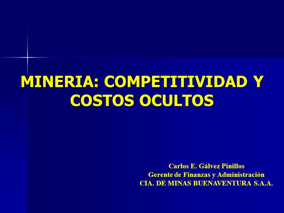 MINERIA: COMPETITIVIDAD Y COSTOS OCULTOS