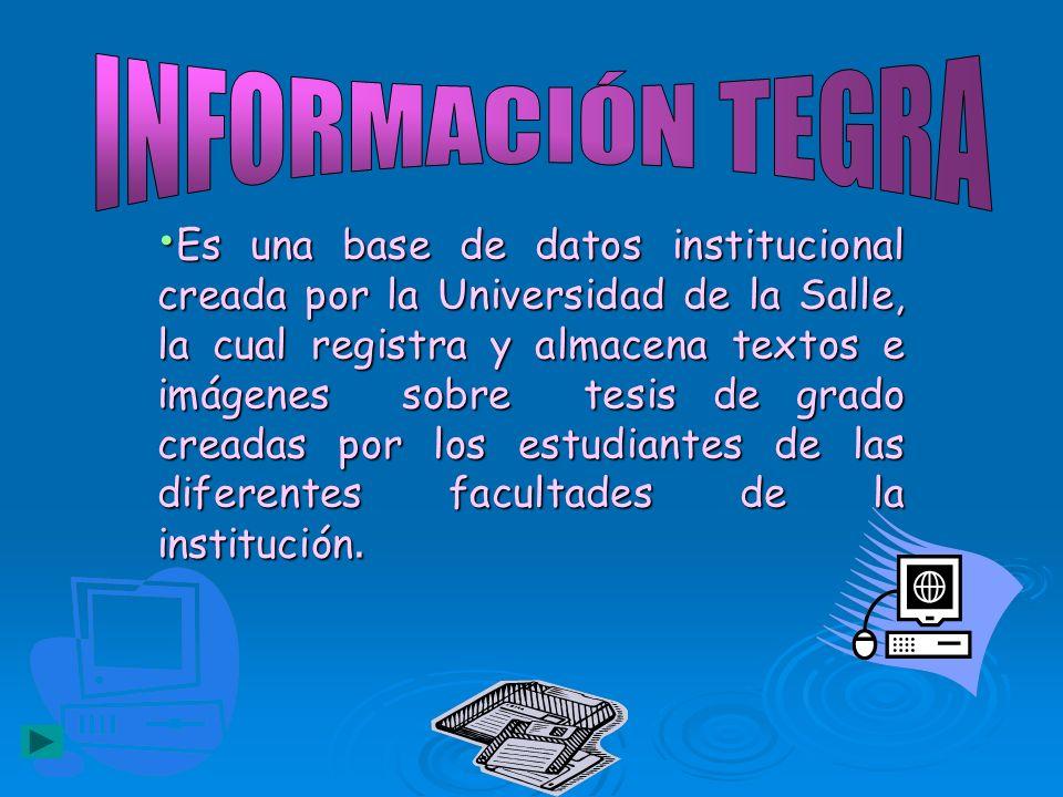 INFORMACIÓN TEGRA