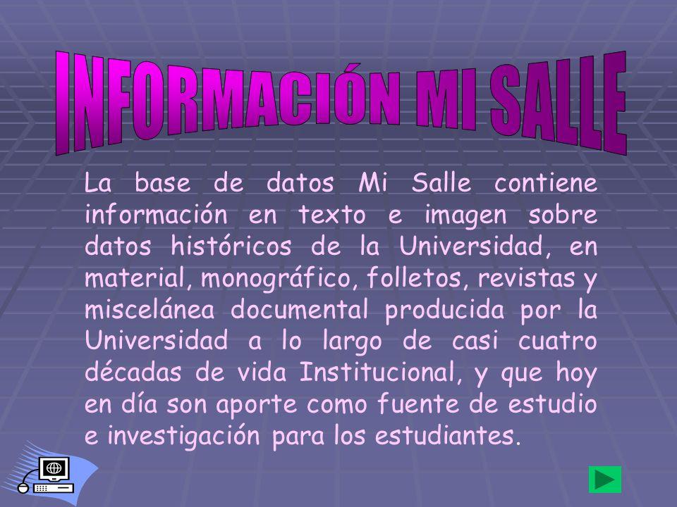INFORMACIÓN MI SALLE