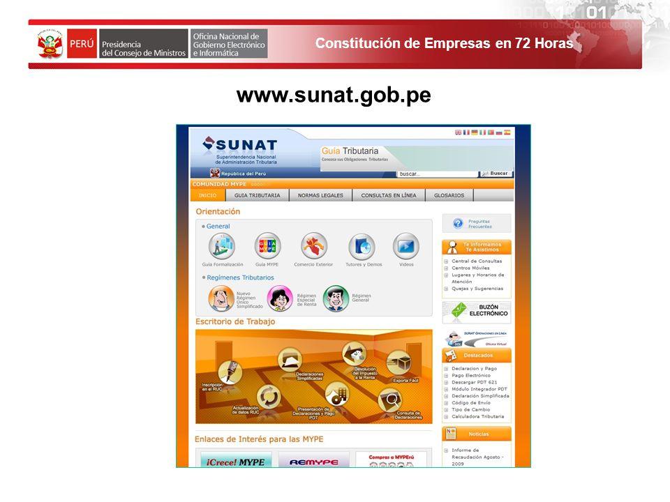 www.sunat.gob.pe 1. El solicitante debe ingresar al Portal de Servicios al ciudadano y empresas.
