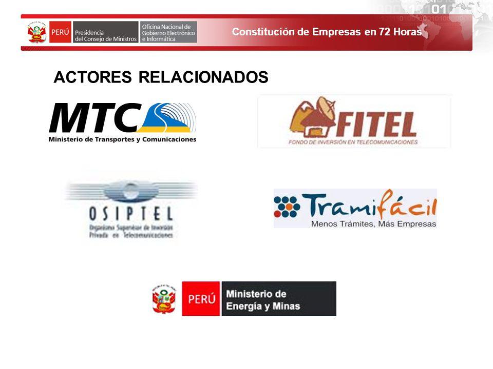 ACTORES RELACIONADOS 1. El solicitante debe ingresar al Portal de Servicios al ciudadano y empresas.