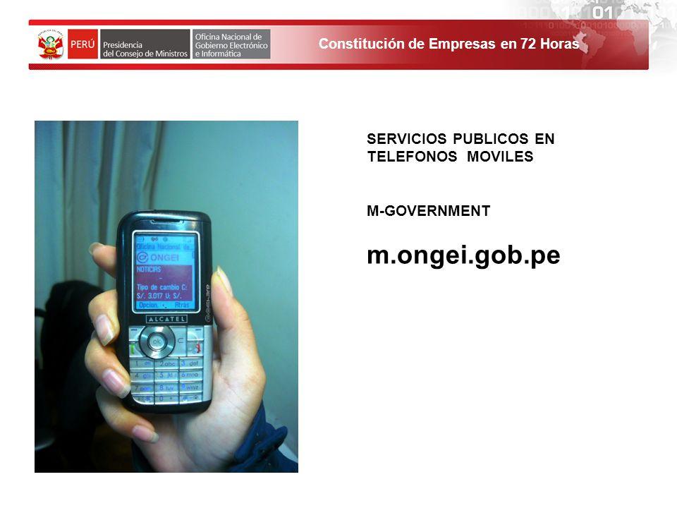 SERVICIOS PUBLICOS EN TELEFONOS MOVILES