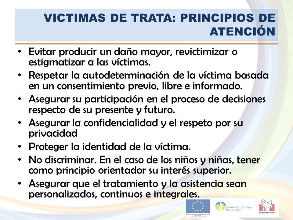 VICTIMAS DE TRATA: PRINCIPIOS DE ATENCIÓN