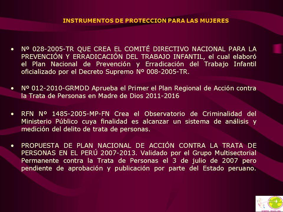 INSTRUMENTOS DE PROTECCION PARA LAS MUJERES