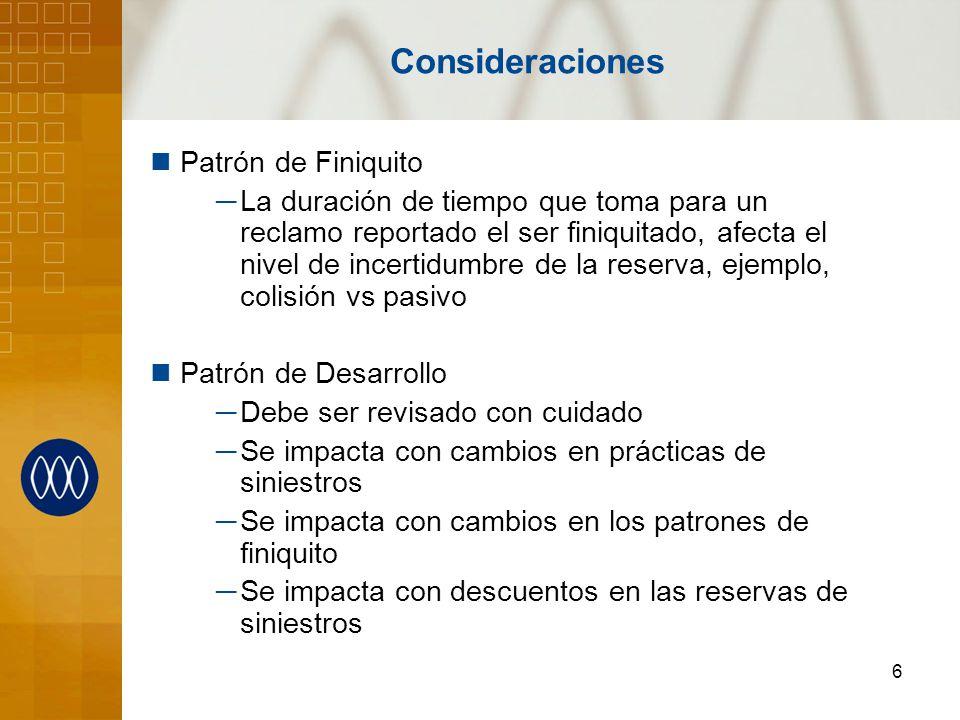 Consideraciones Patrón de Finiquito