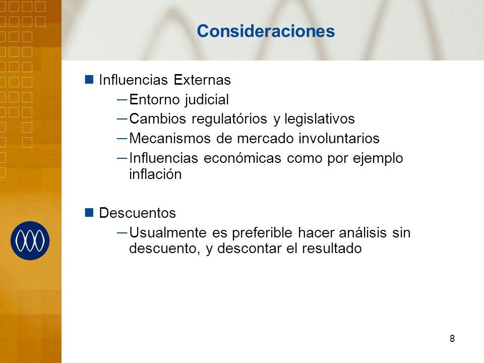 Consideraciones Influencias Externas Entorno judicial