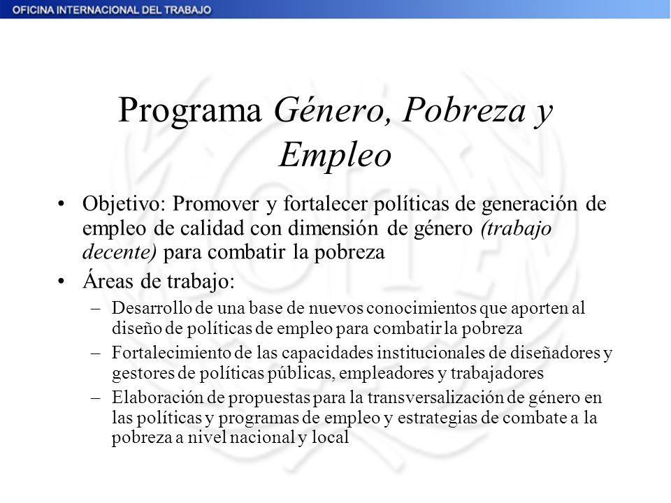 Programa Género, Pobreza y Empleo