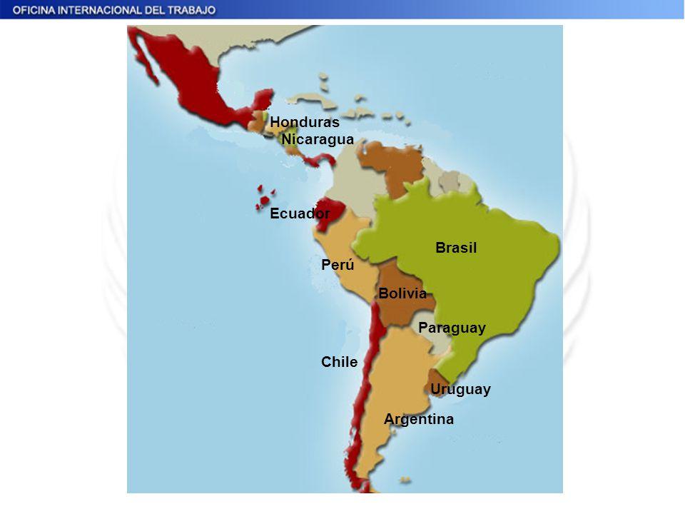 Honduras Nicaragua Ecuador Brasil Perú Bolivia Paraguay Chile Uruguay Argentina