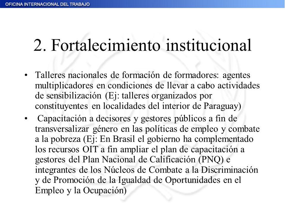 2. Fortalecimiento institucional