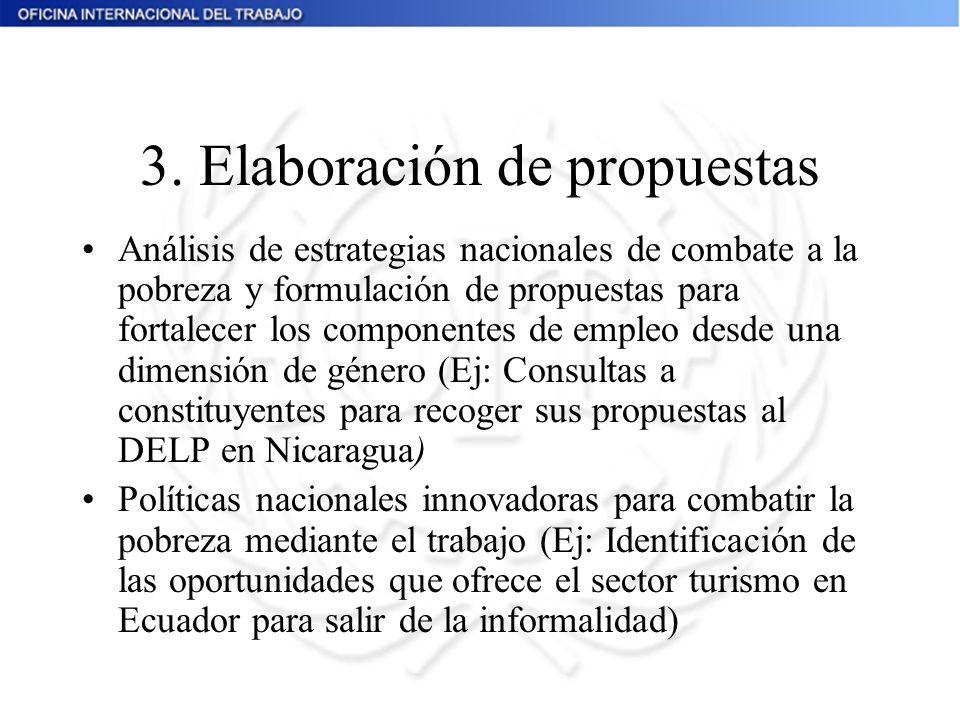 3. Elaboración de propuestas