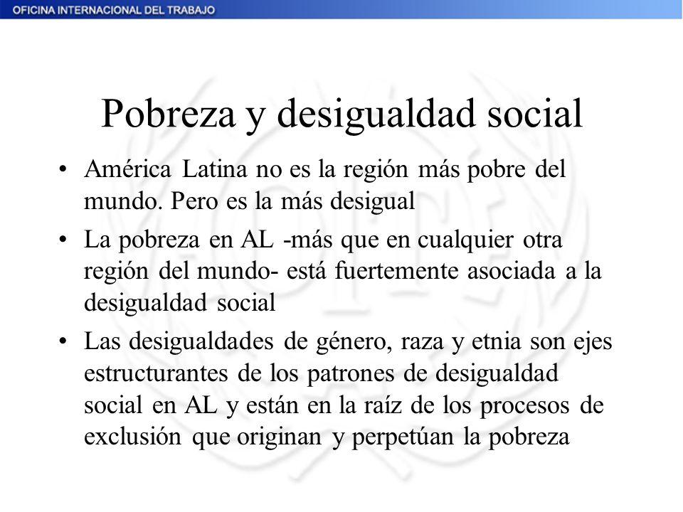Pobreza y desigualdad social