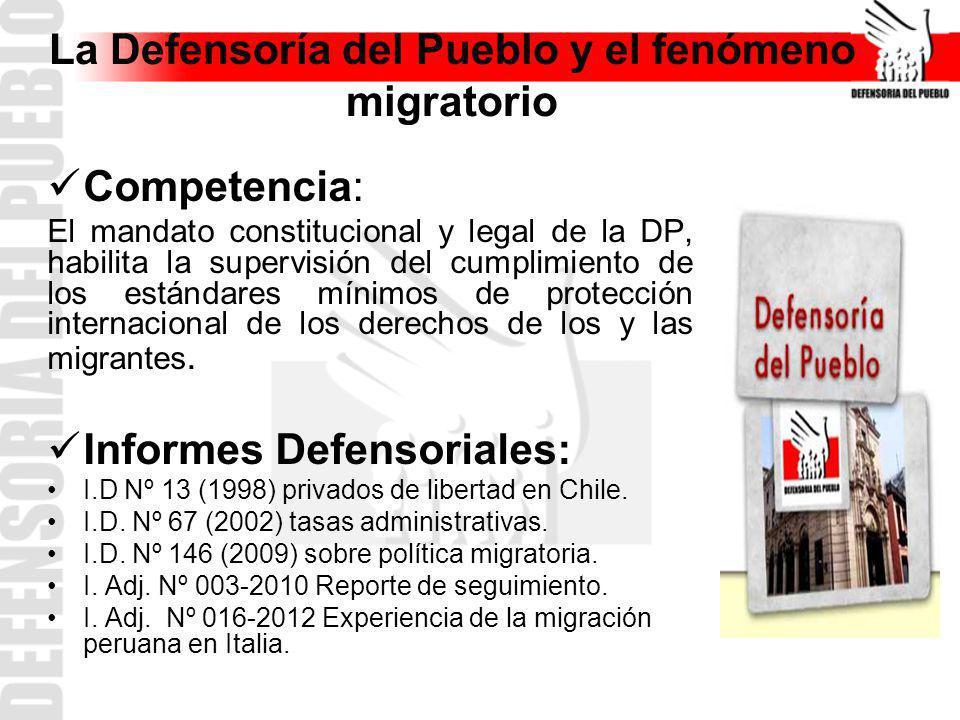 La Defensoría del Pueblo y el fenómeno migratorio