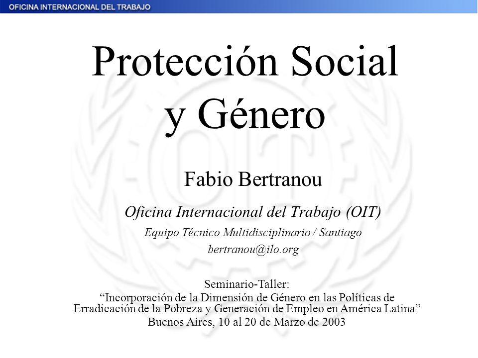 Protección Social y Género