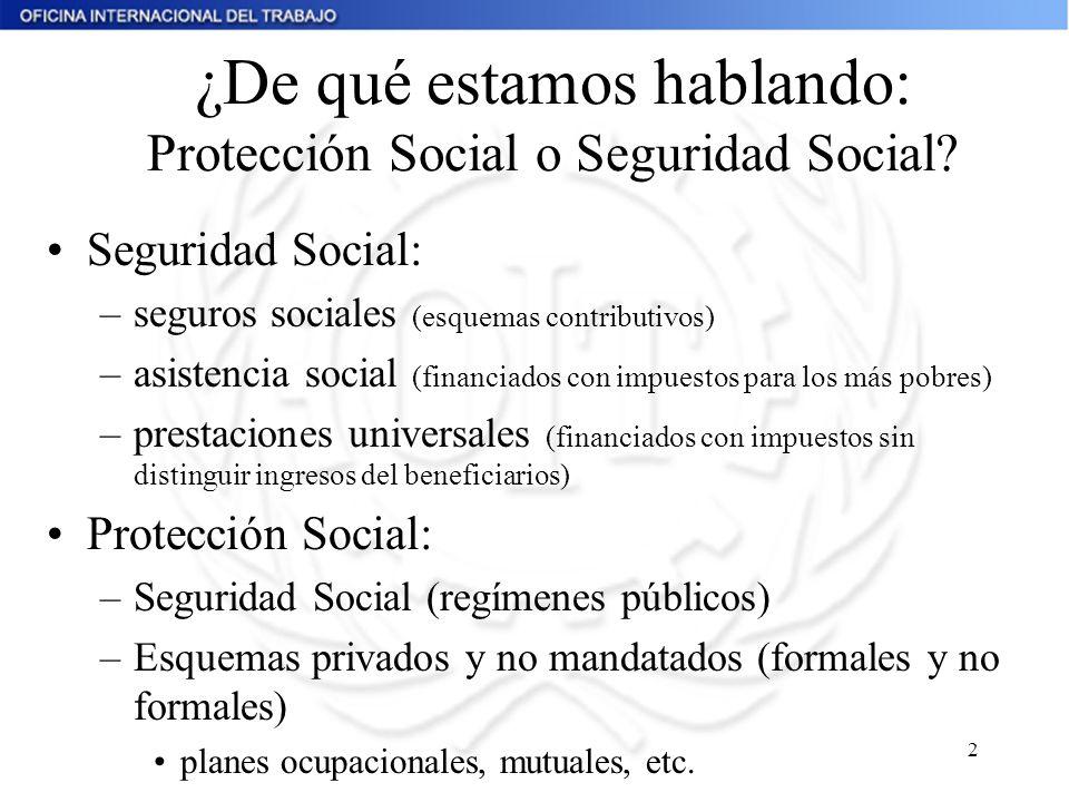 ¿De qué estamos hablando: Protección Social o Seguridad Social
