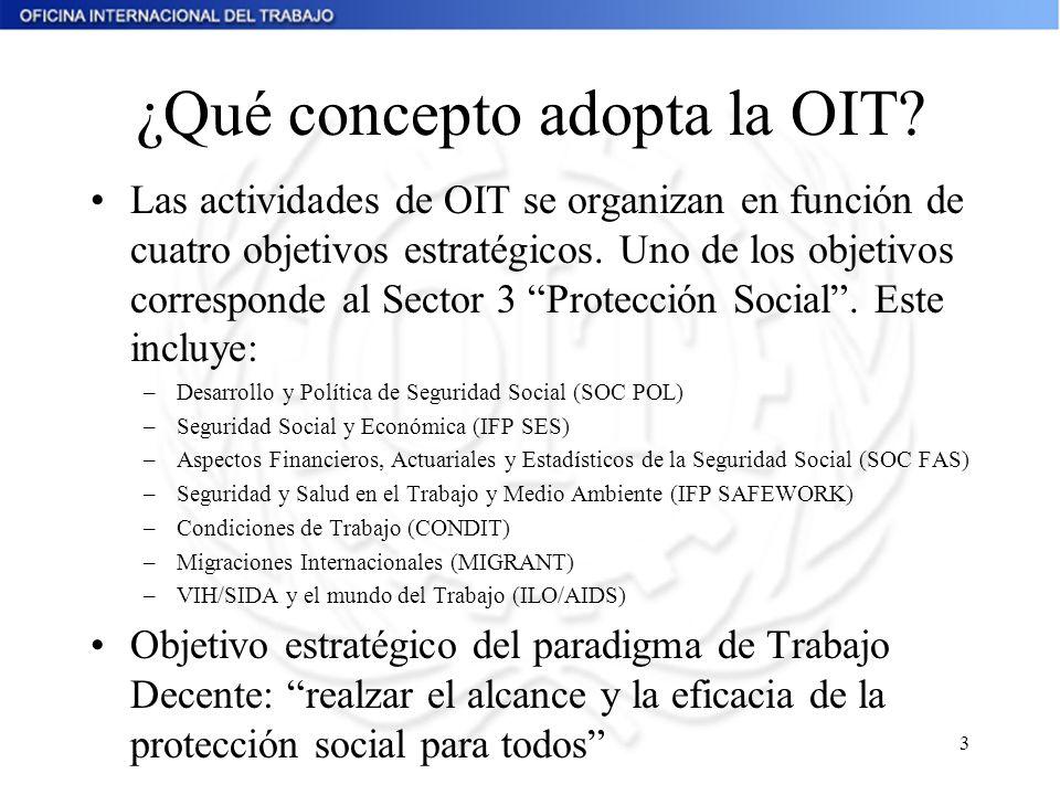 ¿Qué concepto adopta la OIT