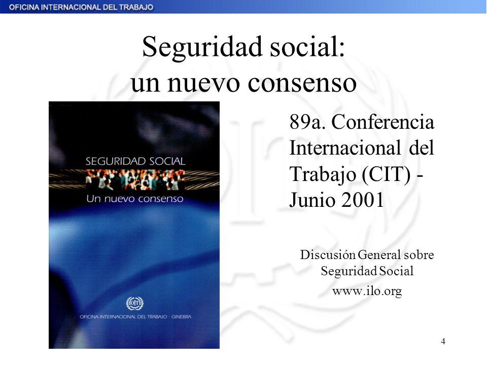 Seguridad social: un nuevo consenso