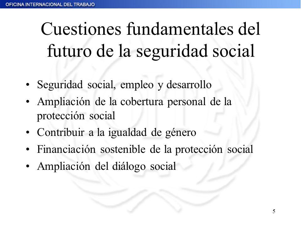 Cuestiones fundamentales del futuro de la seguridad social