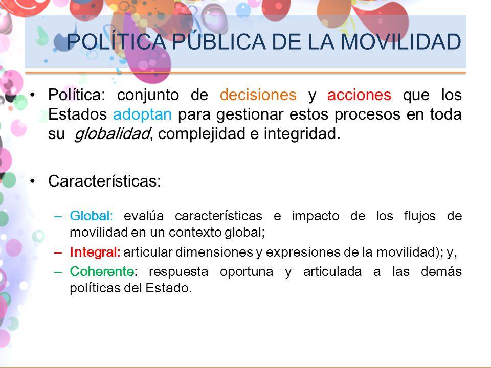 POLÍTICA PÚBLICA DE LA MOVILIDAD