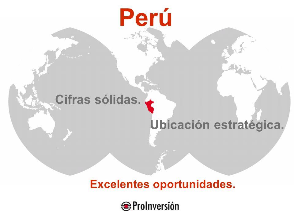 Perú Cifras sólidas. Ubicación estratégica. Excelentes oportunidades.