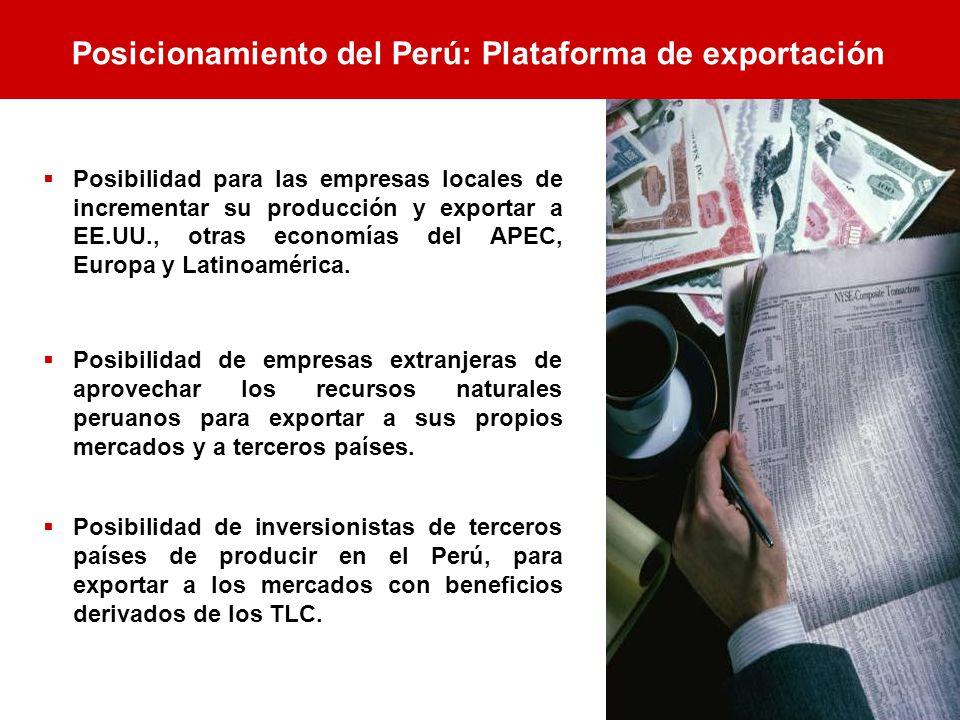 Posicionamiento del Perú: Plataforma de exportación