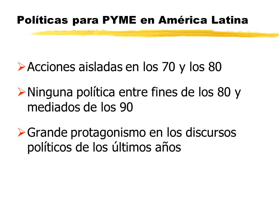 Políticas para PYME en América Latina