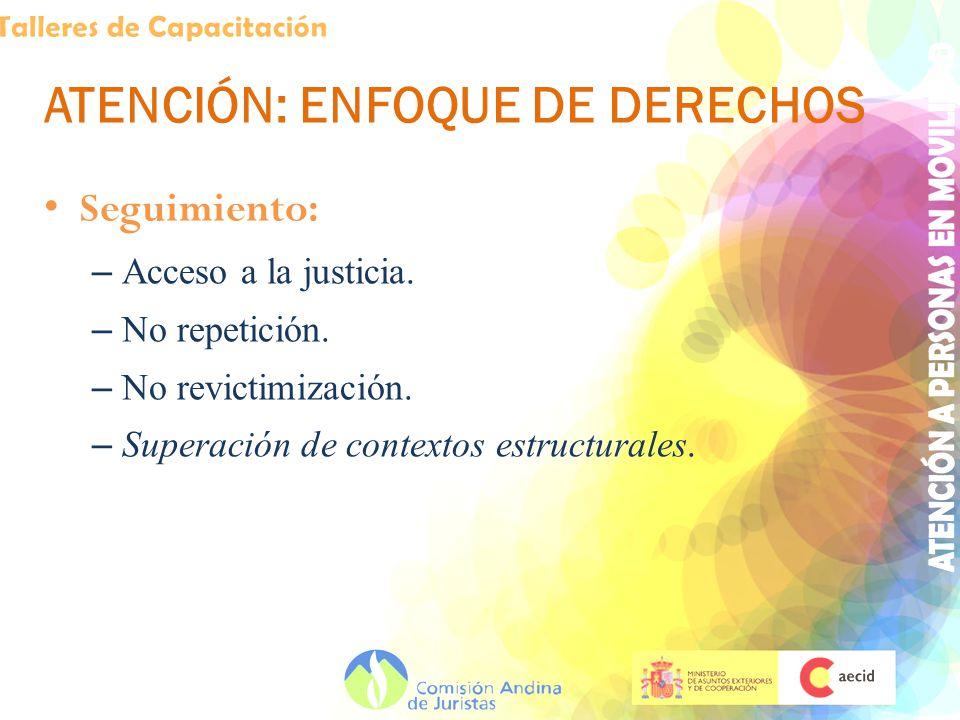 ATENCIÓN: ENFOQUE DE DERECHOS