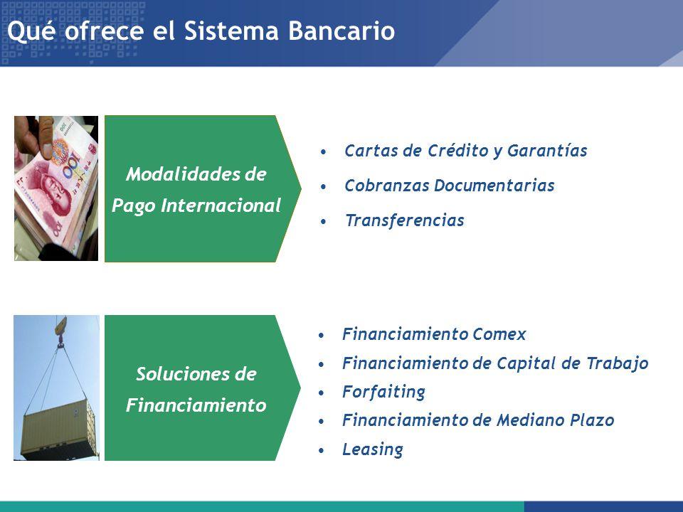 Modalidades de Pago Internacional Soluciones de Financiamiento