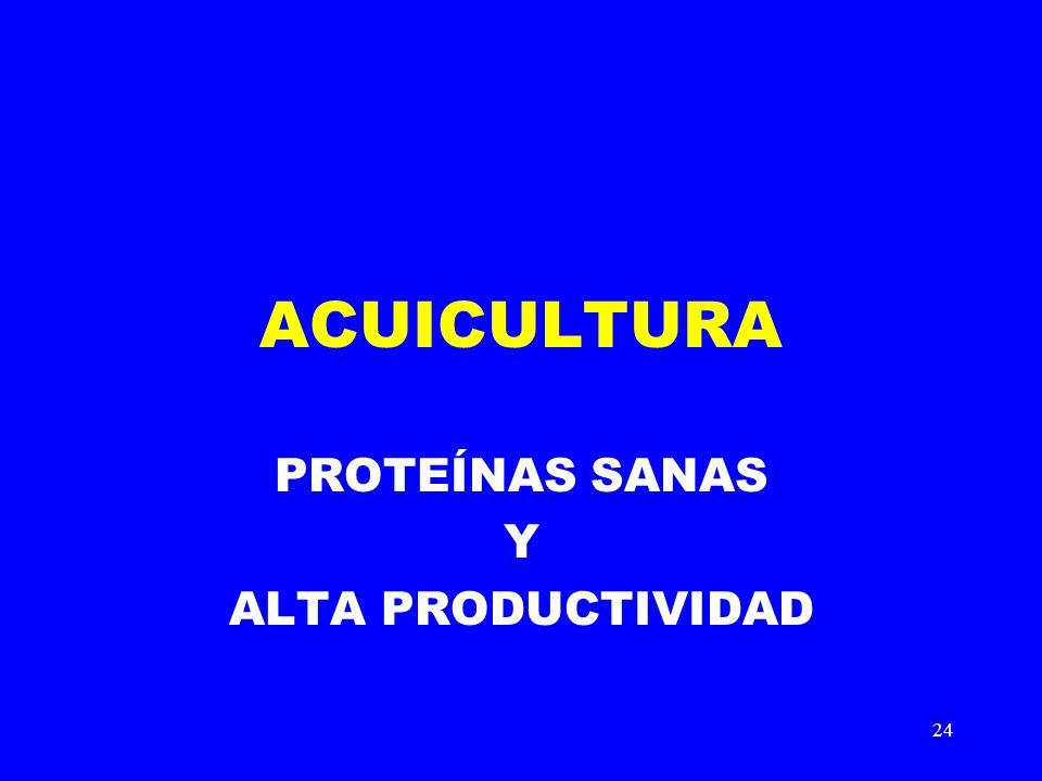PROTEÍNAS SANAS Y ALTA PRODUCTIVIDAD