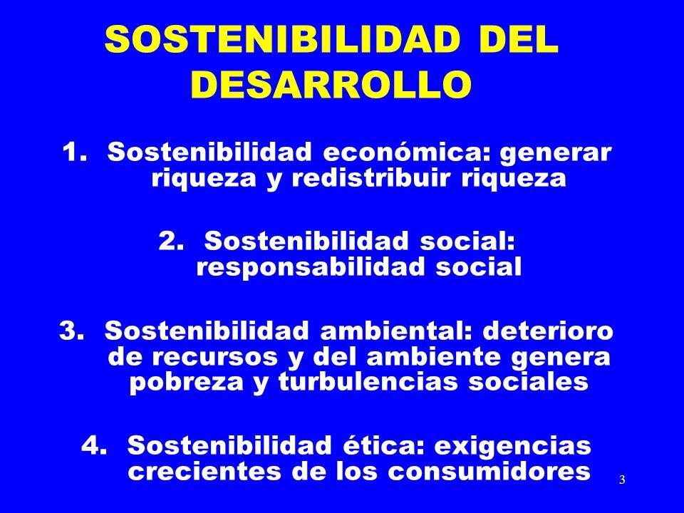 SOSTENIBILIDAD DEL DESARROLLO