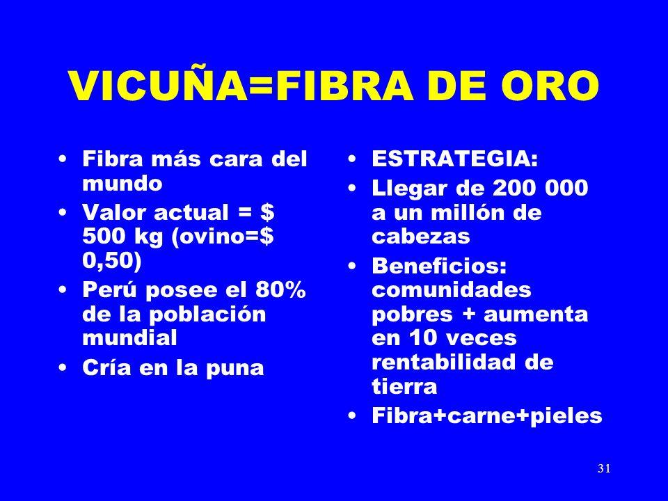 VICUÑA=FIBRA DE ORO Fibra más cara del mundo