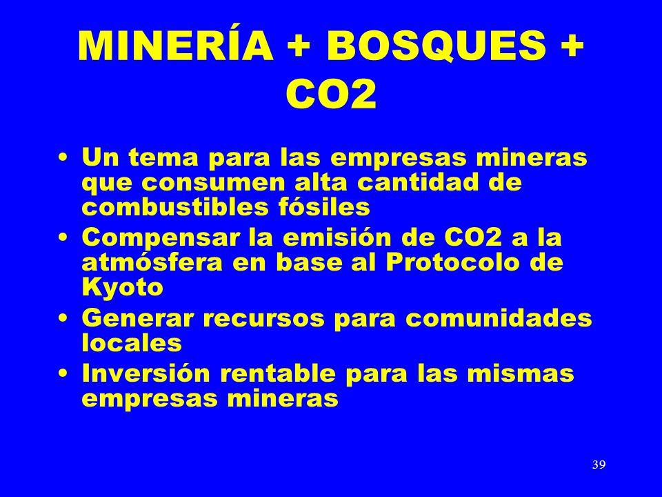 MINERÍA + BOSQUES + CO2 Un tema para las empresas mineras que consumen alta cantidad de combustibles fósiles.